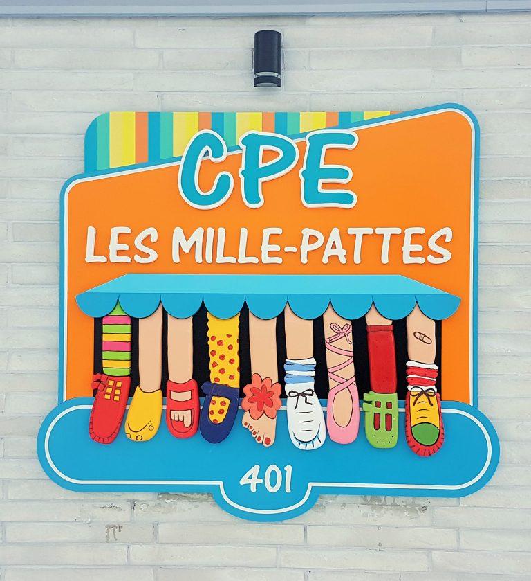 Enseigne CPE en pvc et HDU, 3D - St-Jérôme