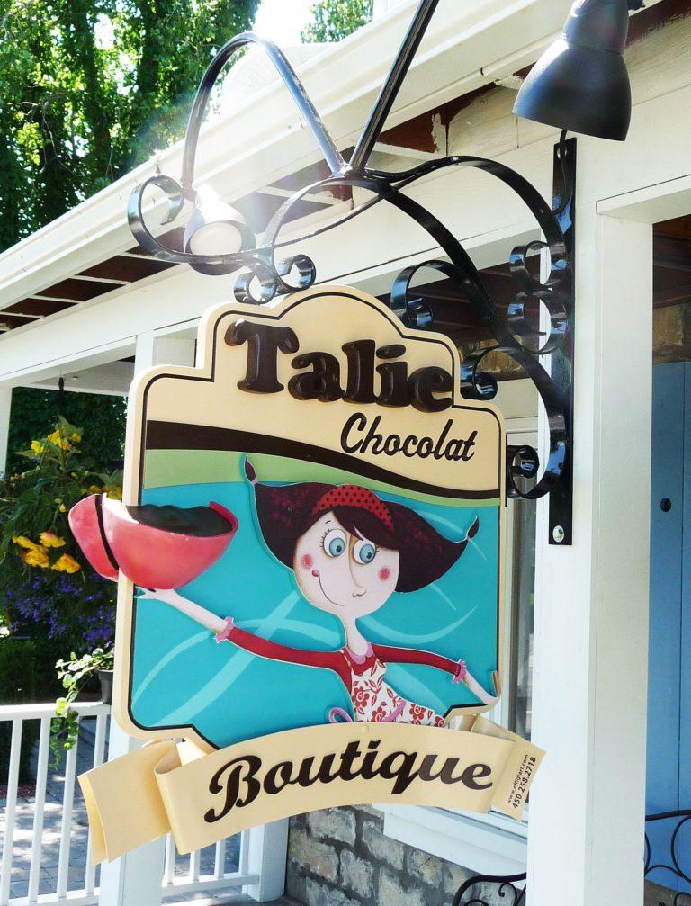 Enseigne 3D - Talie-chocolaterie - Ste-Rose, Laval