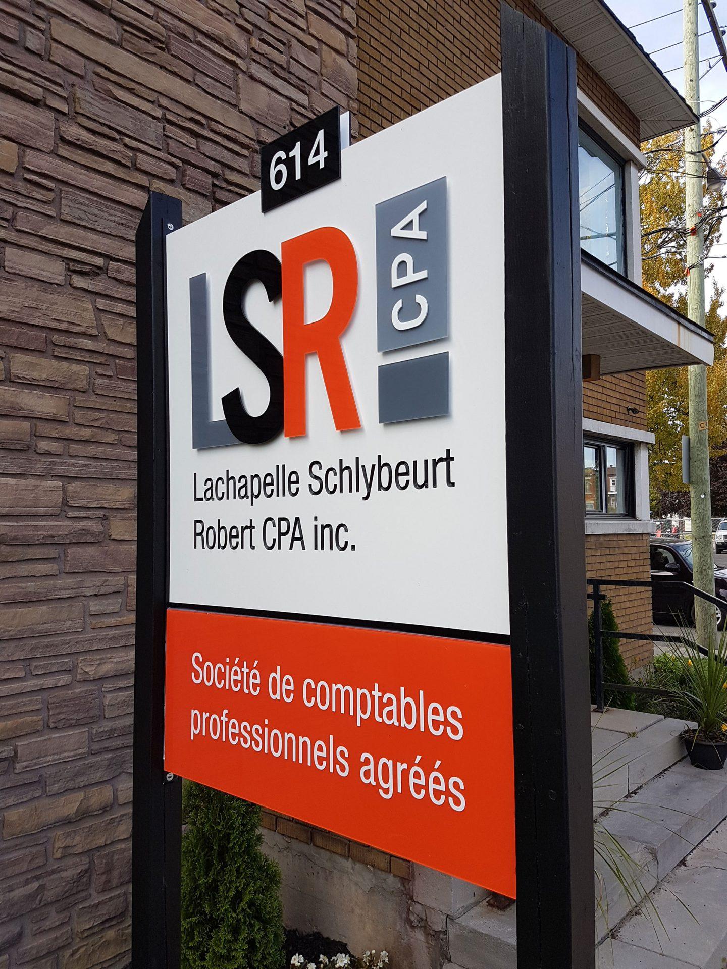 Enseigne bureau de comptable en acrylique St-Jerome Laurentides