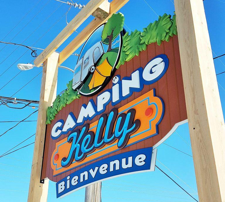 Enseigne camping pvc, aluminium et HDU - Ste-Julienne