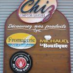 Enseigne fromagerie en bois rustique - Quebec