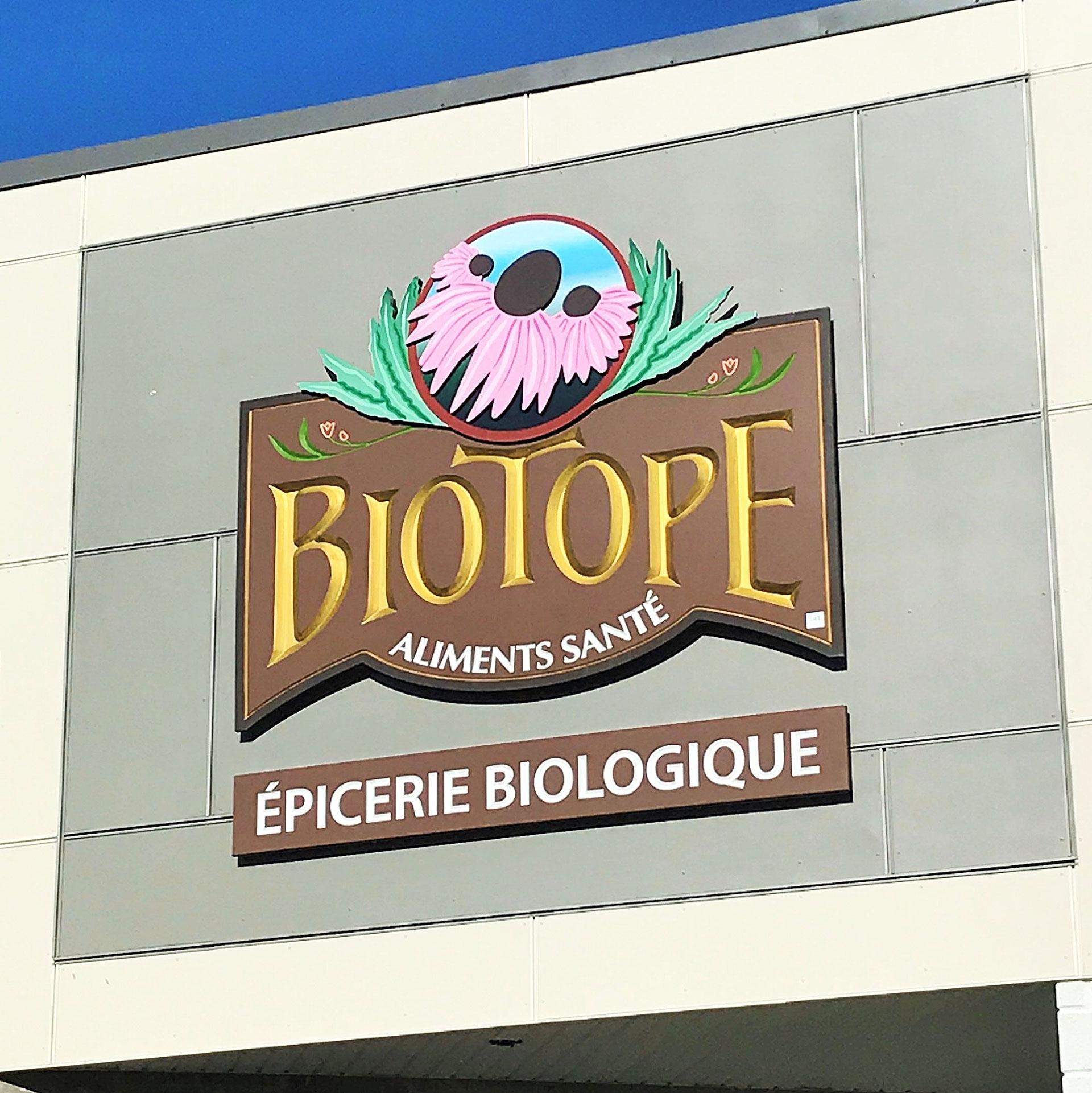 Enseigne grave en PVC Biotope Vaudreuil-Dorion