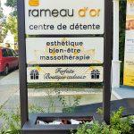 Enseigne grave salon esthetique St-Eustache