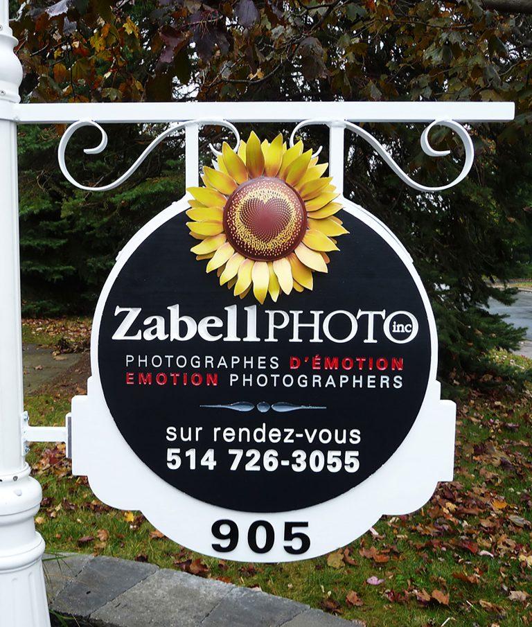 Enseigne photographe Zabelphoto 3d - Laval