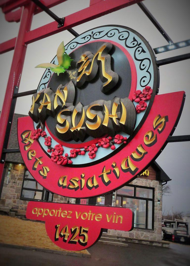 Enseigne restaurant en hdu sculpte PVC - Quebec