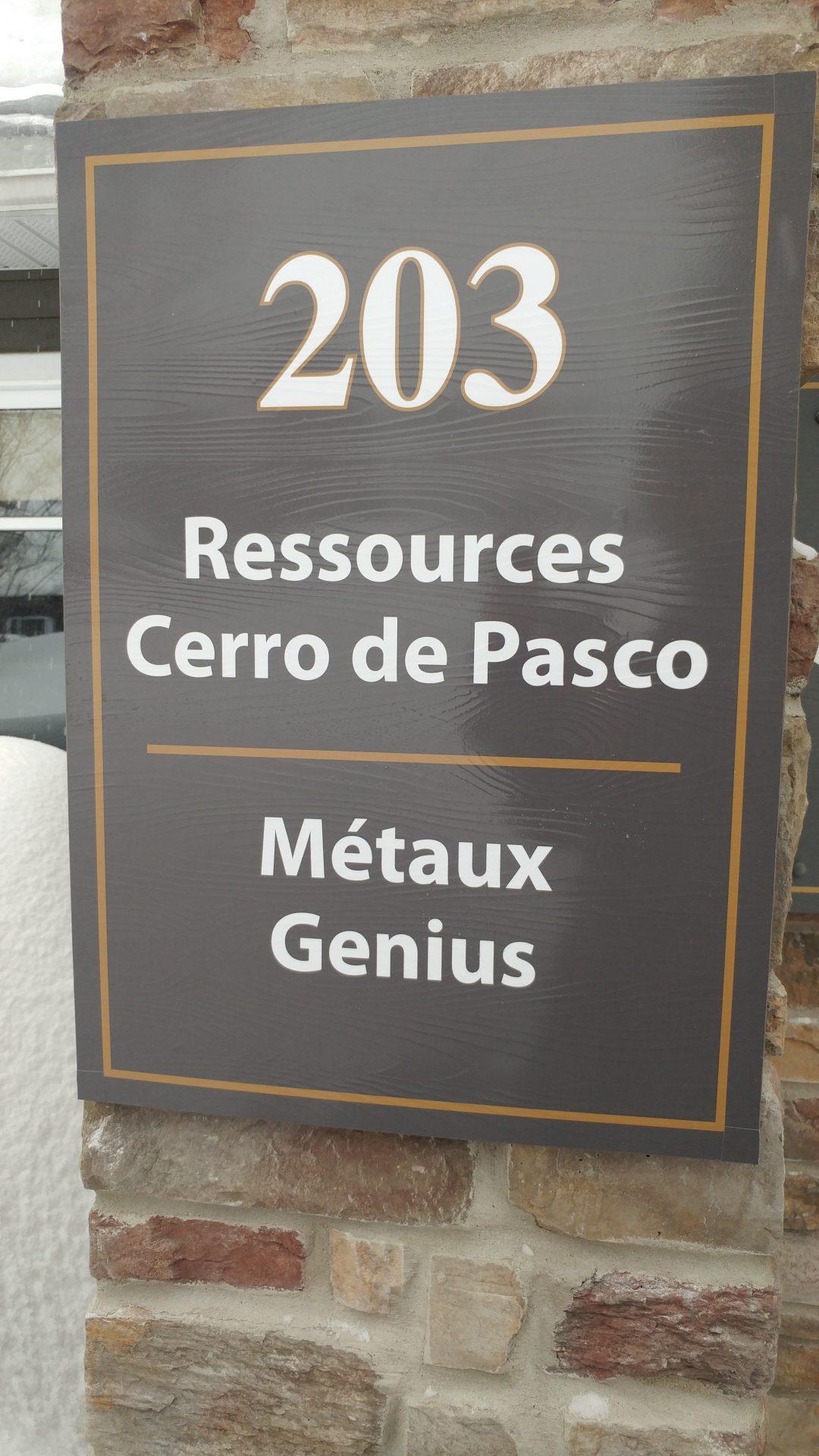 Affiche adresse, signalisation