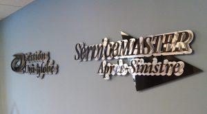 Enseigne interieure, logo 3d, acrylique, decoupe lettrage