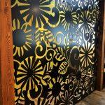 Panneau décoratif, panneau perfore, aluminium