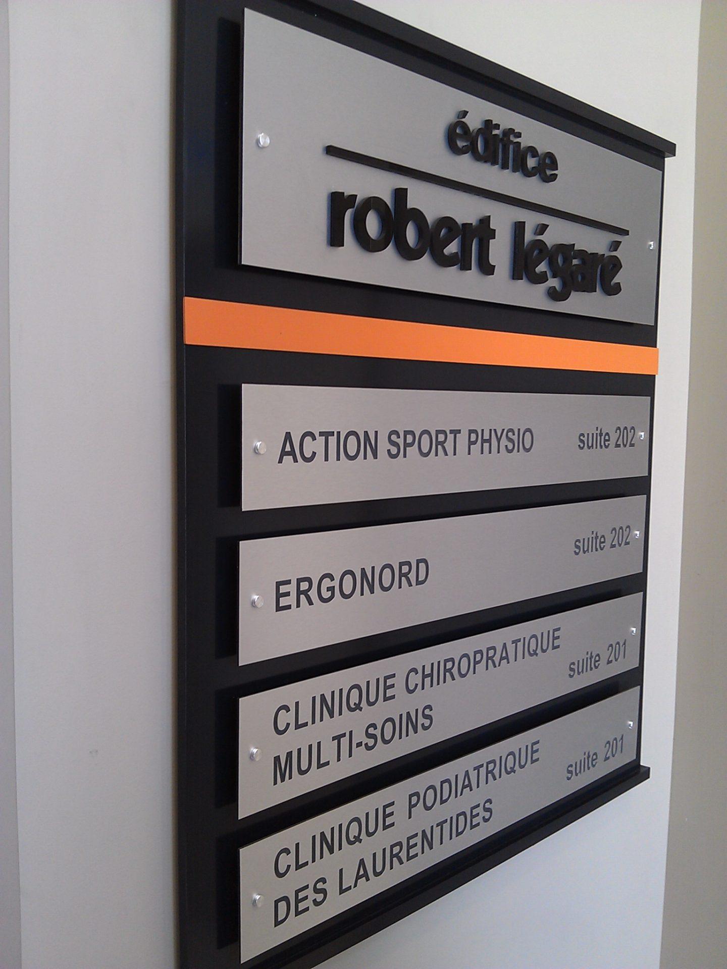 Signalisation bureau professionnel, identification