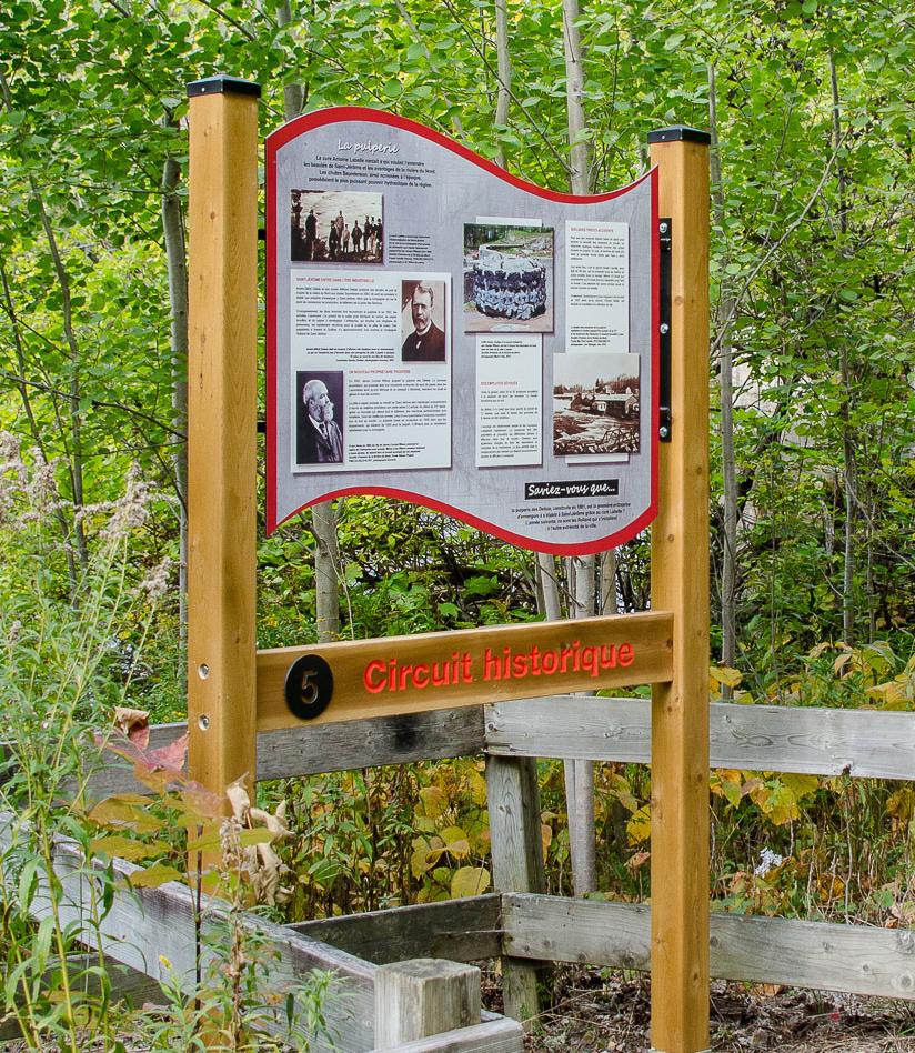 Signalisation parc, bois, impression