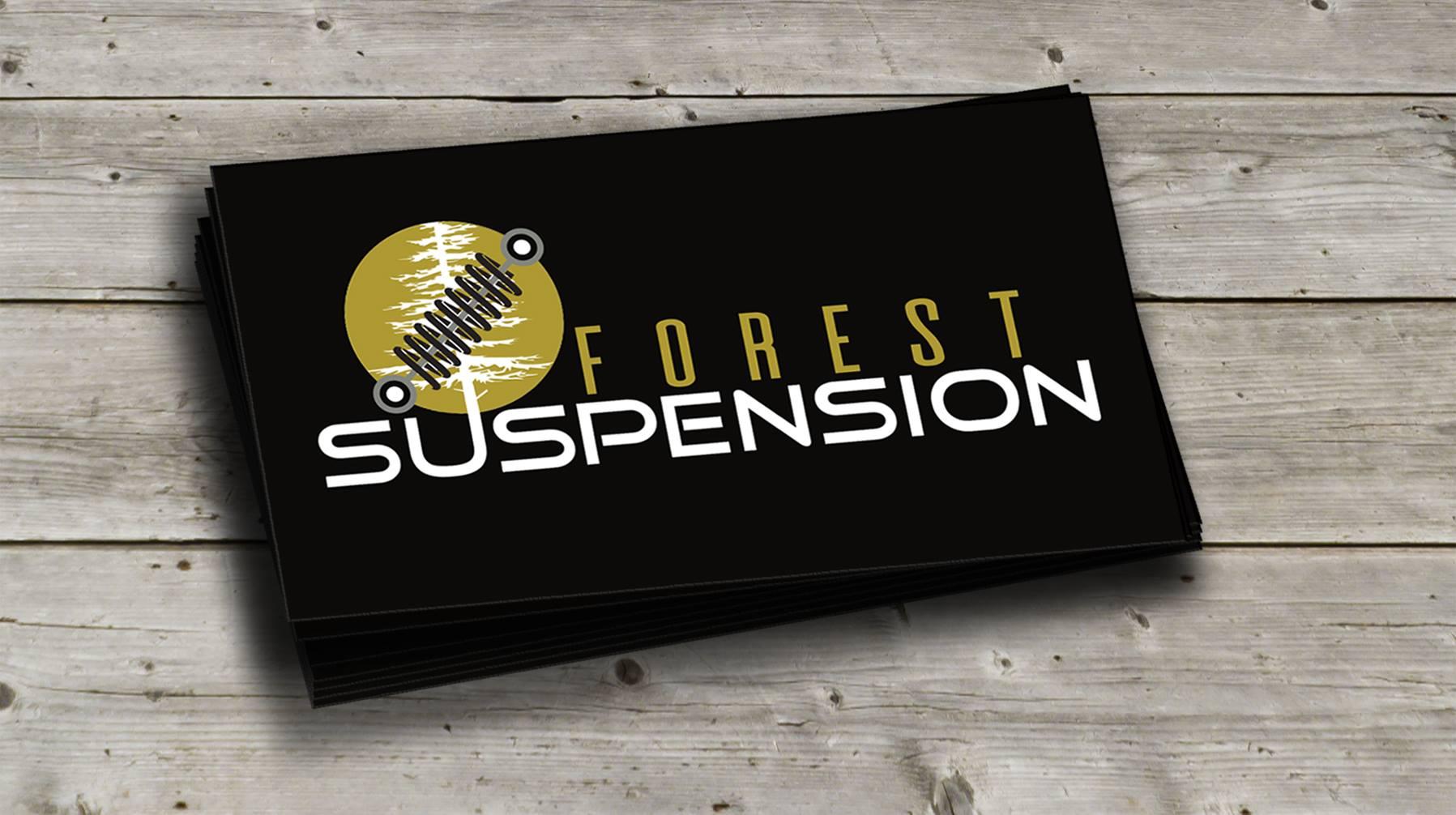 Logo Forest suspension, carte affaire