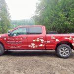 Veronique genest paysagiste camion wrap impression