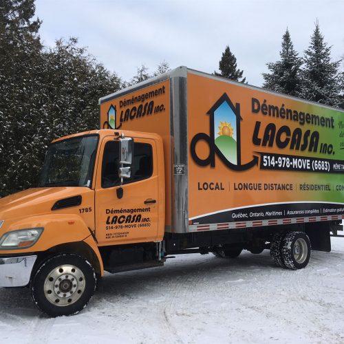 cube camion habillage wrap complet demenagement la casa