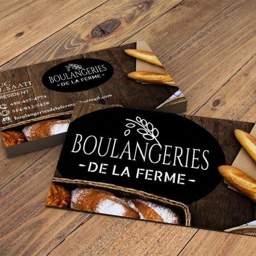 logo, carte affaire, imprimé, Boulangerie de la Ferme