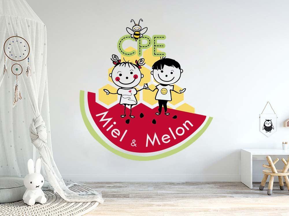 logo, cpe, garderie, Miel et melon, ste-julie